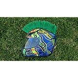 Helmet Hawks Motorcycle Helmet Mohawk w/Sticky Hook and Loop Fastener Adhesive-Turf Green