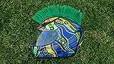 Helmet Hawks Motorcycle Helmet Mohawk w/ Sticky Velcro Adhesive-Turf Green