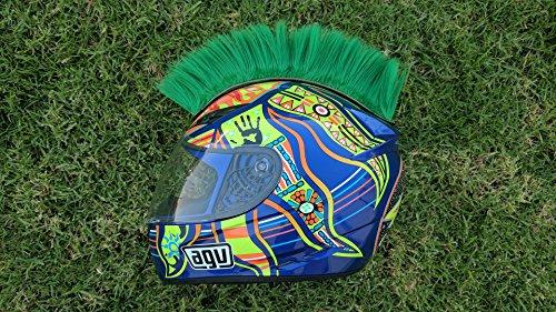 Helmet Hawks Motorcycle Helmet Mohawk w/ Sticky Velcro Adhesive-Turf Green by CaliBikerClub