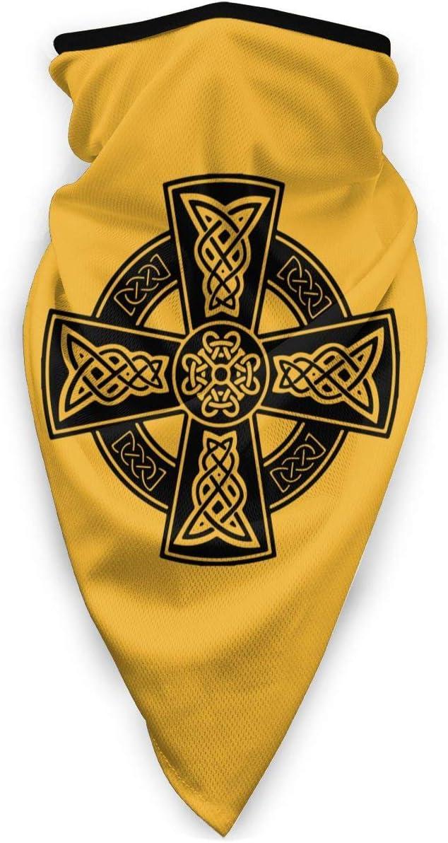 NA - Máscara antiviento para deportes al aire libre, diseño de cruz celta, con símbolos celtas