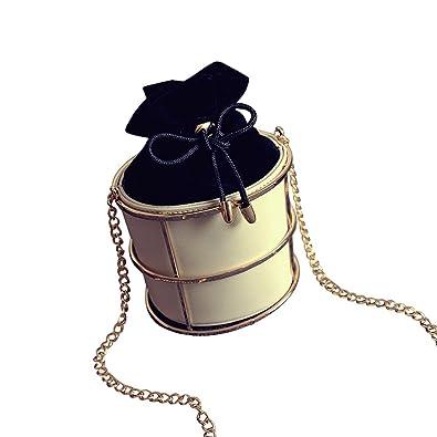 Amazon.com: saumota Señoras Forma de Cilindro Mini Bolsa de ...