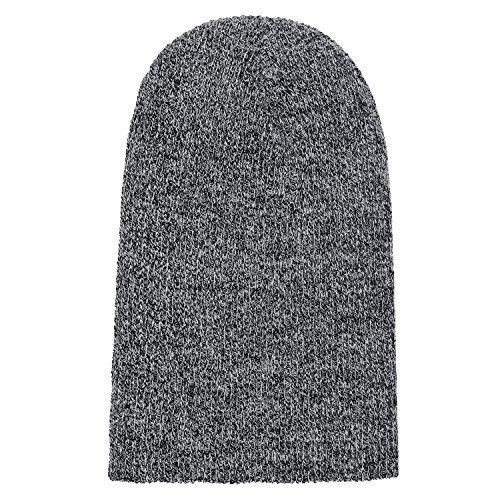 slouch mujereso invierno y Blanco clásico DonDon hombres moderno gorro beanie Negro diseño para de xnwXnqYZE0