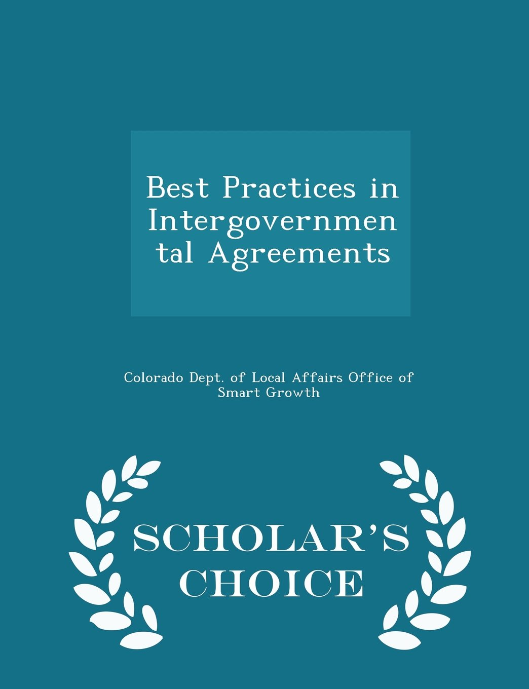 Best Practices in Intergovernmental Agreements - Scholar's Choice Edition PDF