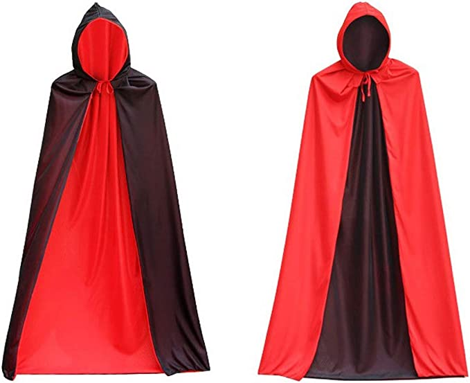 US Unisex Halloween Fancy Dress Costume Child Kids Hooded Velvet Cape Cloak