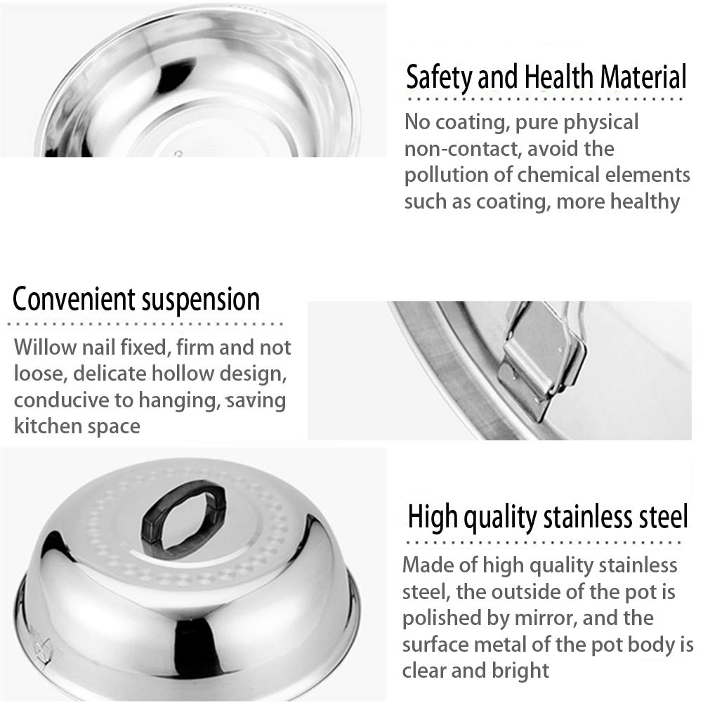 Stainless Steel Cheese Melting Dome, 16.53 Inch Round Basting Cover - Round Basting Cover and Steaming Cover - Best for Use by Meethome (Image #3)