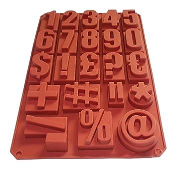 fasters número jabón de puntuación para cubos de hielo Chocolate jabón molde de silicona decoración de pasteles: Amazon.es: Hogar