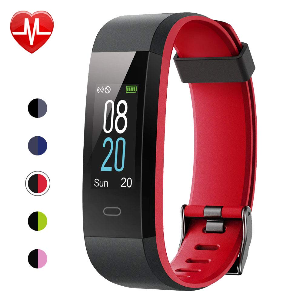 Willful Fitness Tracker with Heart Rate Monitor, Activity Tracker Pedometer with Step Counter Sleep Monitor 14 Sports Tracking,Color Screen IP68 Waterproof,Fitness Watch for Women Men Kids (Red)