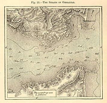 El Estrecho de Gibraltar. España. Ceuta. Mapa de Bosquejo 1886 ...
