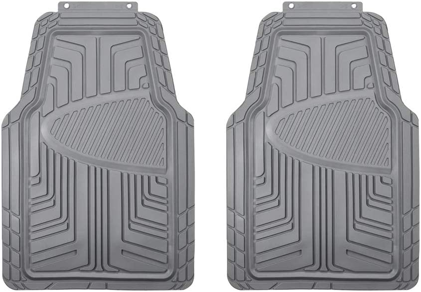 AmazonBasics 2-Piece All-Season Odorless Rubber Floor Mat for Cars, SUVs and Trucks, Gray