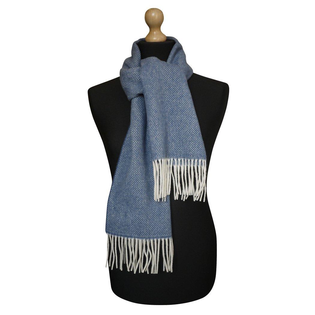 Maalbi Luxury Italian Virgin Wool Herringbone Scarf (blue)