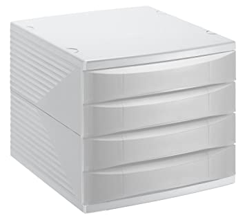 Rotho Quadra 10800MK000 Cajón archivador de Oficina, poliestireno, Formato A4, Alta Calidad, Aprox. 37 x 28 x 25 cm, plástico, Gris Antracita y Verde, ...