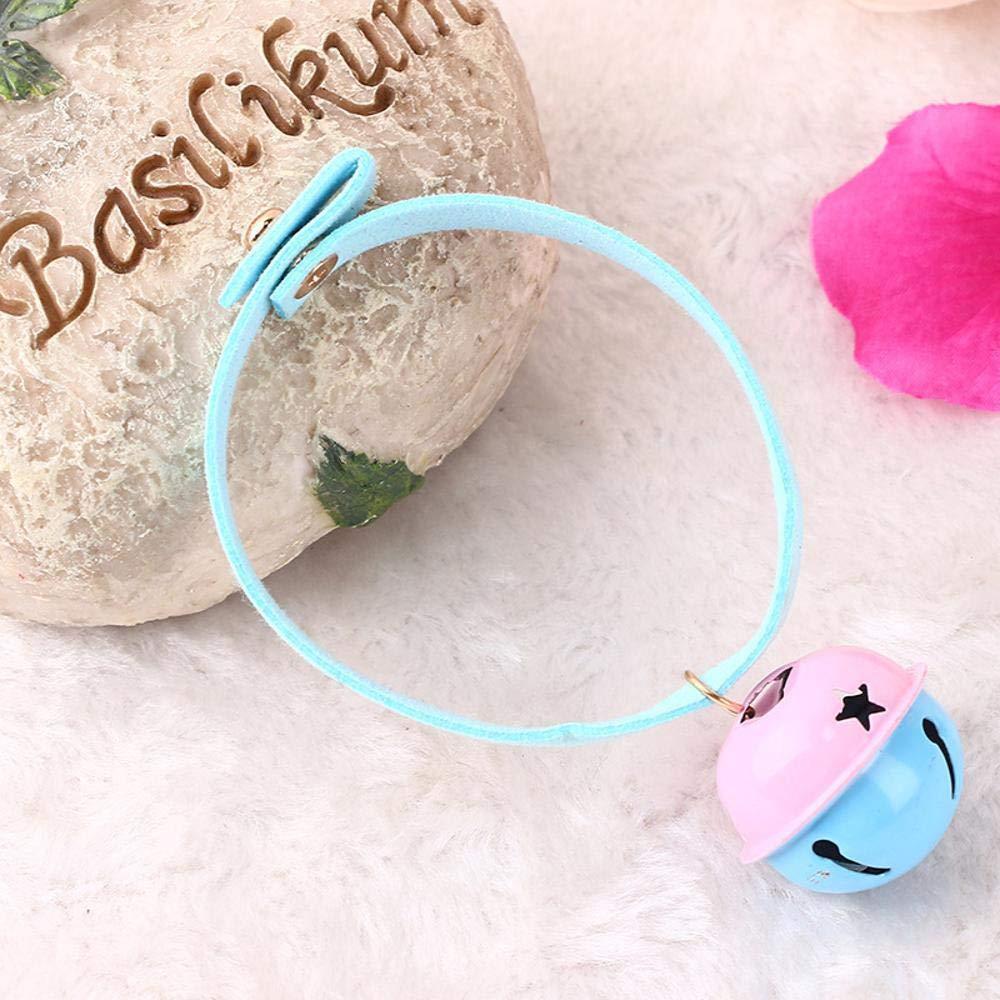 Daeou Collar de Perro Franela Cuerda Perro Cadena Color Doble Horno Campana Suministros para Mascotas: Amazon.es: Productos para mascotas