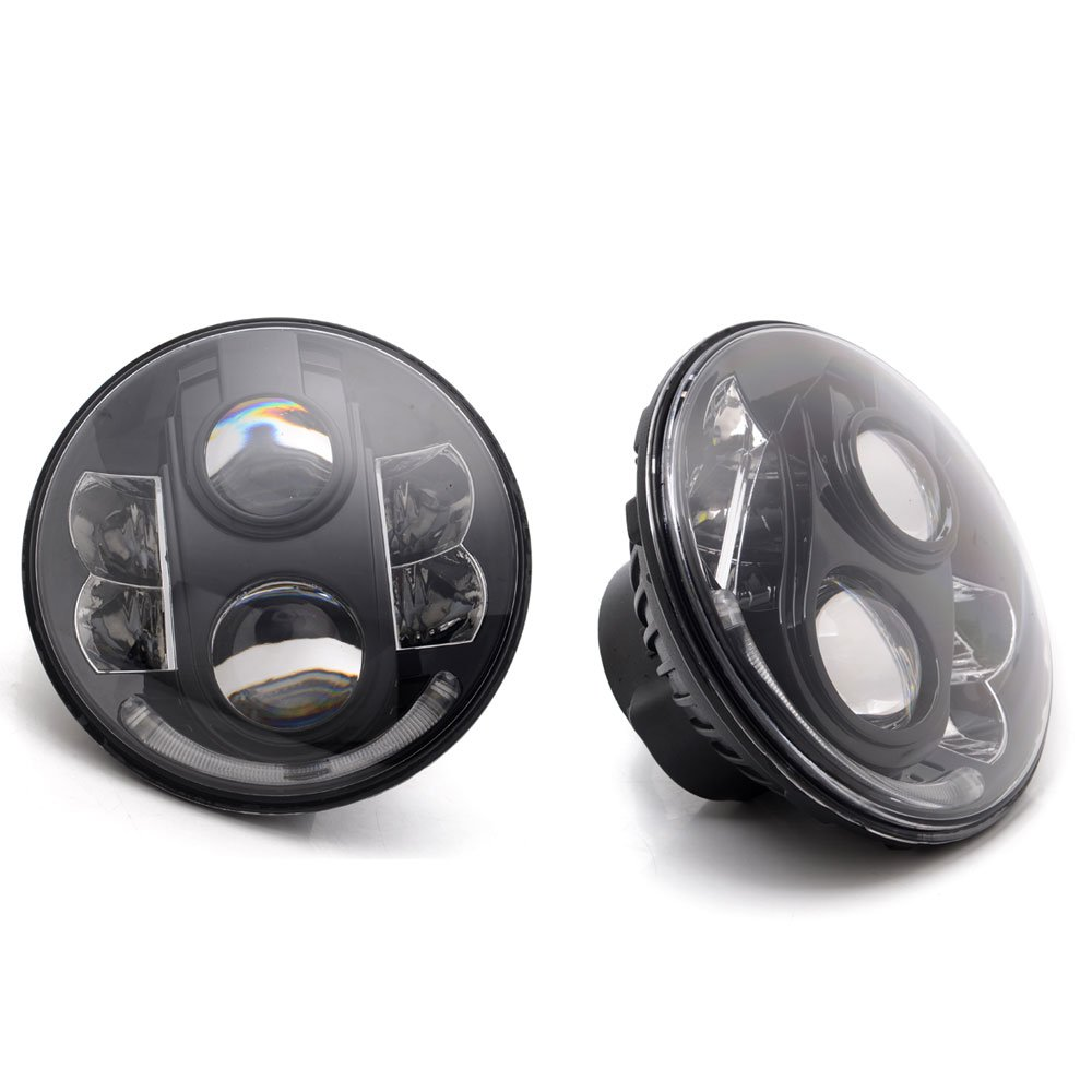 led projector black headlamps headlights xenon hid for kenworth t2000 ebay. Black Bedroom Furniture Sets. Home Design Ideas