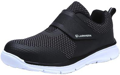 LARNMERN Zapatos de Seguridad para Hombre con Puntera de Acero ...