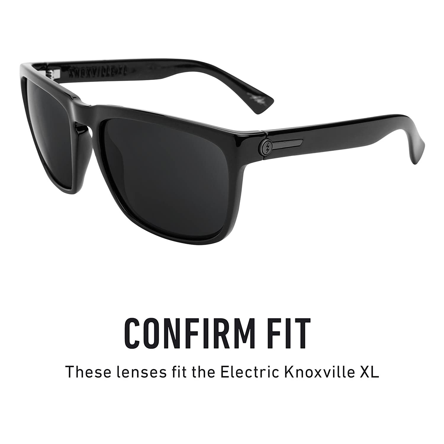 01f345d78b1 Amazon.com  Revant Polarized Replacement Lenses for Electric Knoxville XL  Elite Black Chrome MirrorShield  Sports   Outdoors
