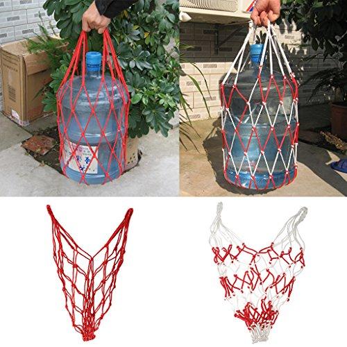 Nylon Netzhalter Lagerung Geflochtene Tasche Tragenetznetztasche Für Bälle Multi