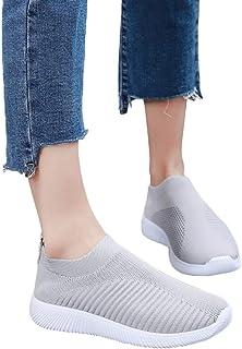 Dtuta Sneakers en Mesh Pour Femmes, Outdoor Casual Slip On Comfortable Chaussures De Sport Pour Femmes En Plein Air