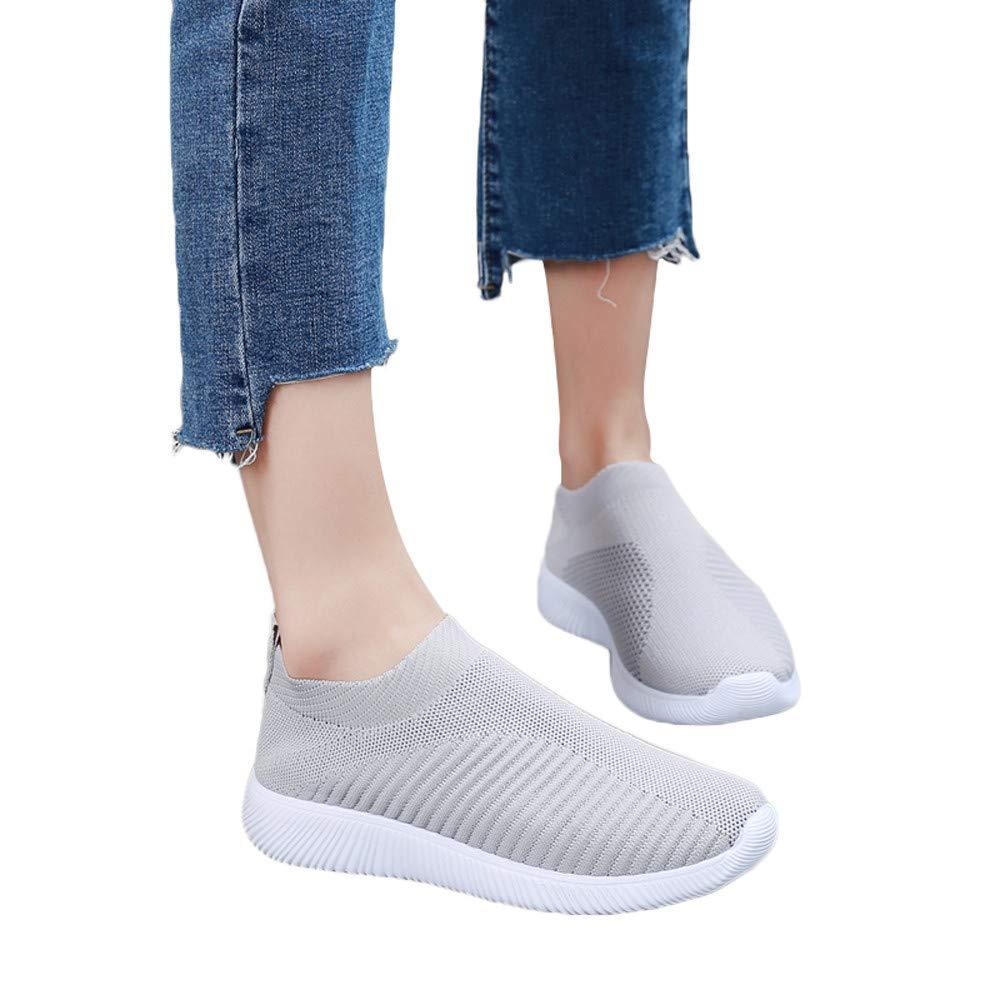 ❤️ Calzado Deportivo para Mujeres, Zapatos de Malla al Aire Libre Slip Informal en Suelas cómodas Running Sports Sneakers Shoes Absolute