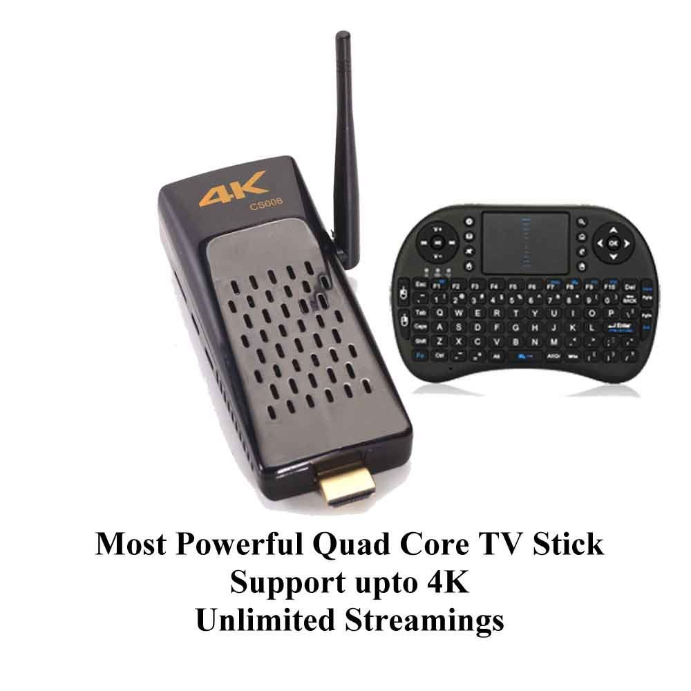 KUKELE Strongest TV STICK Android Media Player [Quad Core RK3288/2GB+8GB/4K/Instruction/Wireless Keyboard]