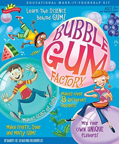 Scientific Explorer Bubble Gum Factory Kit New Have As Much Fun Chewing Your Experiment As You Had Making and Learning The Science Behind It Ages 8+