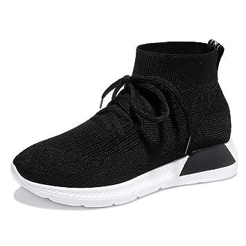 AJUNR Transpirable Zapatos Deportivos Zapatos de Damas Calcetines Zapatos Zapatos de Mujer Zapatos de los Deportes