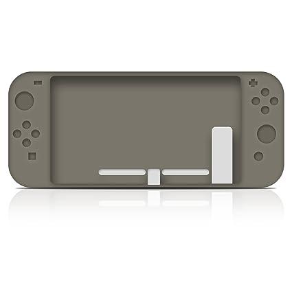 Kugi Nintendo Switch Funda Carcasa/Caso / Case, Nintendo Switch Funda Caja de TPU Suave Estilo de Esmerilado para Nintendo Switch.(Gris)
