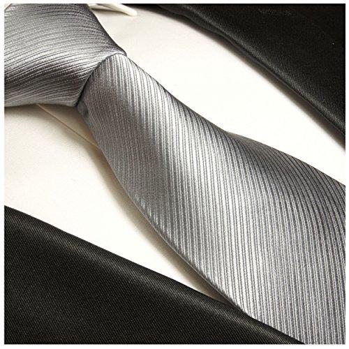 Cravate homme uni d'argent ensemble de cravate 2 Pièces ( longueur 165cm )