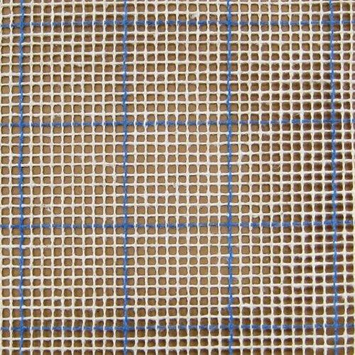 MCG Textiles 67554 Latch Hook Supplies Blue Lined 3 3/4 Mesh Graph N Latch Canvas 54x60 - Ivory Canvas Rug