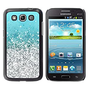 Design for Girls Plastic Cover Case FOR Samsung Galaxy Win I8550 Silver Aquamarine Vibrant Bling OBBA
