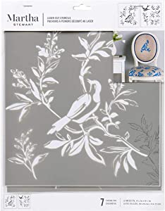 "Martha Stewart Crafts Laser-Cut Stencil, 8.75"" x 9.75"", 2 Sheets, Chinoiserie"