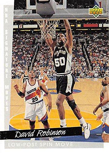 David Robinson Basketball Card (San Antonio Spurs, Spin Move) 1993 Upper Deck #248