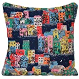 Cath Kidston Cushion Cover Houses & Buildings Decorative Throw Blue Pillow Case