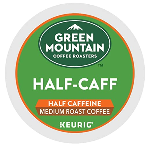 Green Mountain Coffee Roasters Half-Caff Keurig Single-Serve K-Cup Pods, Medium Roast Coffee, 24 Count