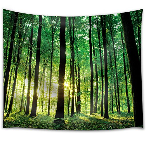 Green Forest Fabric Tapestry