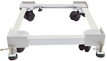 AMPEREUS Heavy Duty Adjustable Washing Machine Trolley/Stand  White