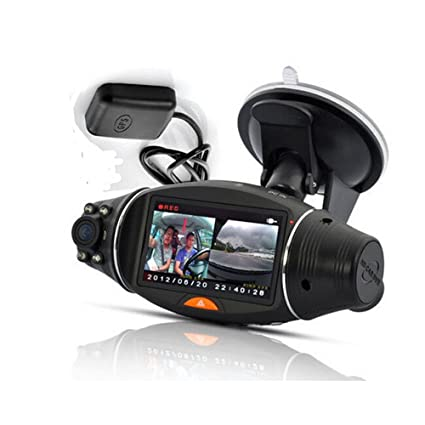 "2.7/"" 1080P Vehicle Car DVR Camera Video Recorder Dash G-Sensor GPS Dual Lens MX"
