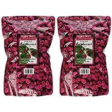 Trader Joe's Freeze Dried Raspberries Unsweetened & Unsulfured 1.2oz Bag (2-Pack)