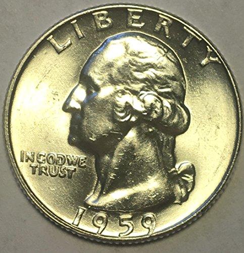 1959 D Silver Washington Quarter MS-63 (Coin 63 Album)