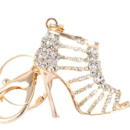 cb7e9729fa299 JewelBeauty Cute Lovely High Heeled Shoes Heels Rhinestone Crystal Keychain  Charm Pendent Beautiful Accessories Best Gift