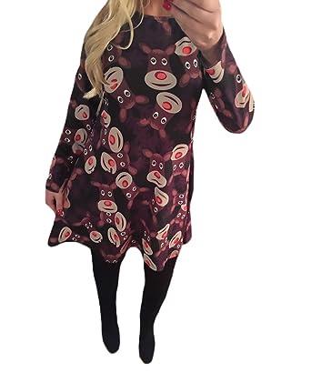 4a74cb1713 Vestidos Tallas Grandes Mujer Fiesta Elegante Otoño Vestido Invierno Vestido  Manga Joven Bastante Larga Vestido Cuello Redondo Vestidos Camiseros Línea  A ...