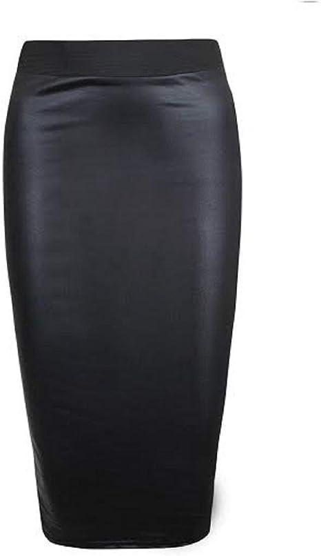Thic Tissu Femme Midi Jupe Crayon Femmes Taille Plus Tube Jupe Moulante Bureau