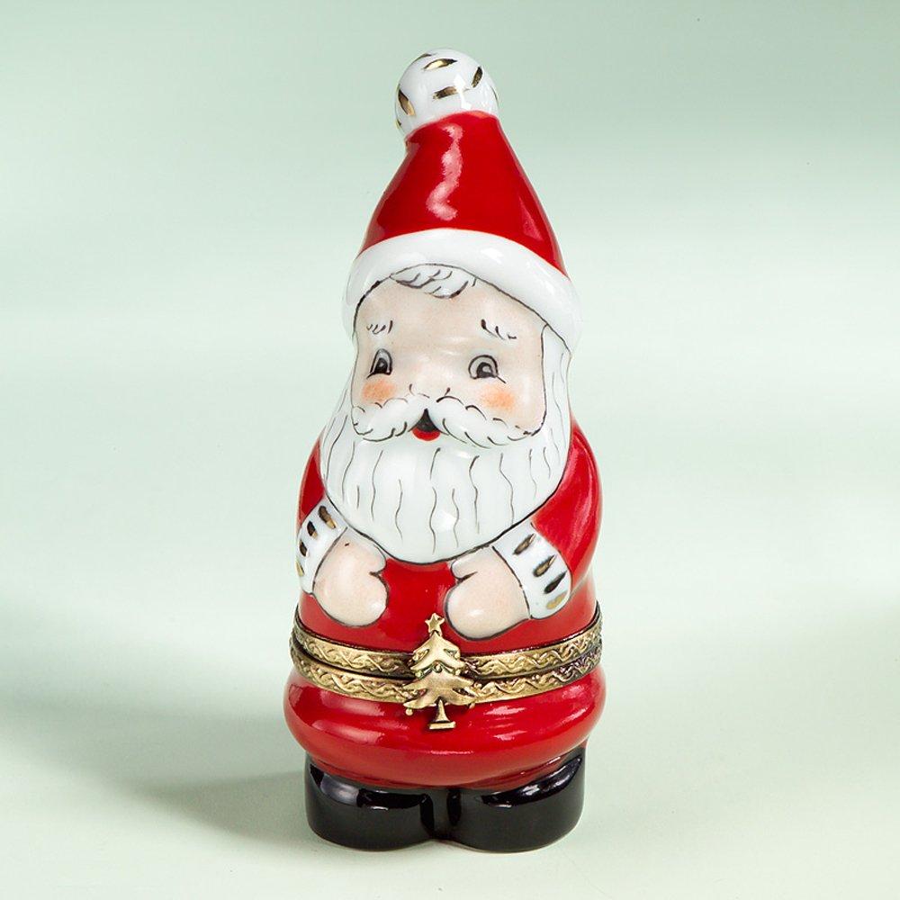 French Authentic Limoges Porcelain Santa Box