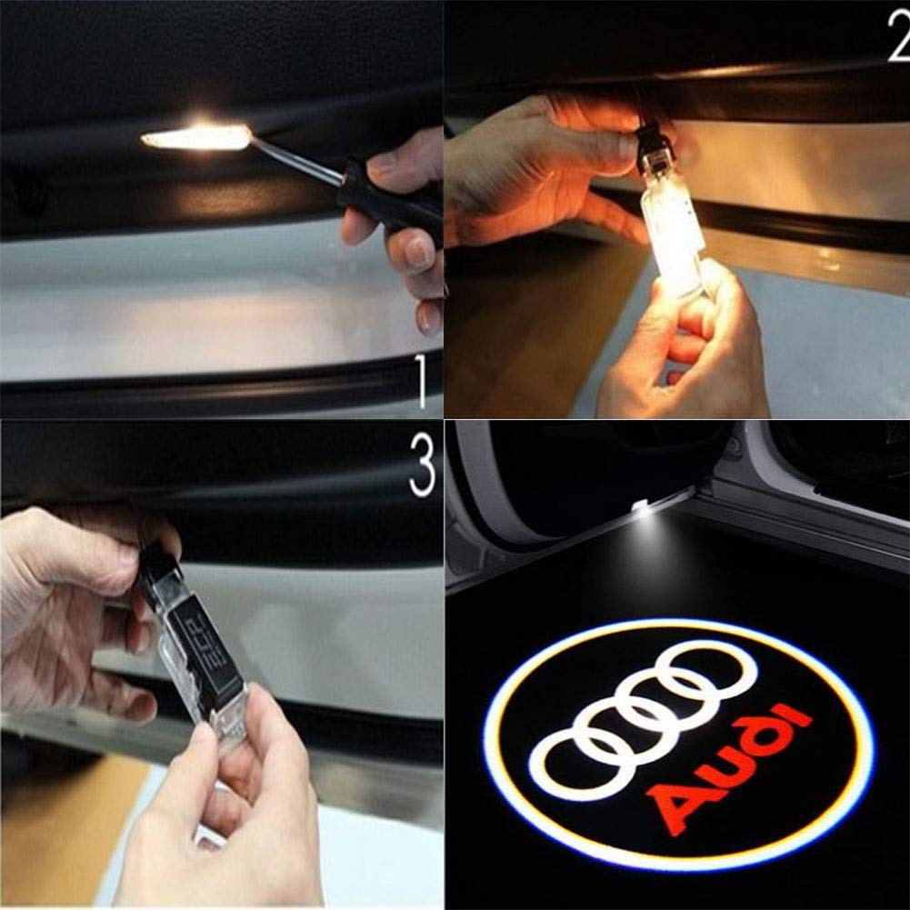 Shadow lights for car 3D Car Ghost Shadow Light,4 piece Logo Projection Light for car door 4 Pack car door lights,LED car door light