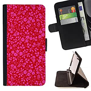 Jordan Colourful Shop - Pink Red Wallpaper Pattern Floral Purple For Samsung ALPHA G850 - Leather Case Absorci???¡¯???€????€???????&b