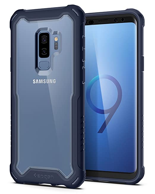 Spigen Hybrid 360 Designed for Samsung Galaxy S9 Plus Case (2018) Glass  Screen Protector Included - Deep Sea Blue
