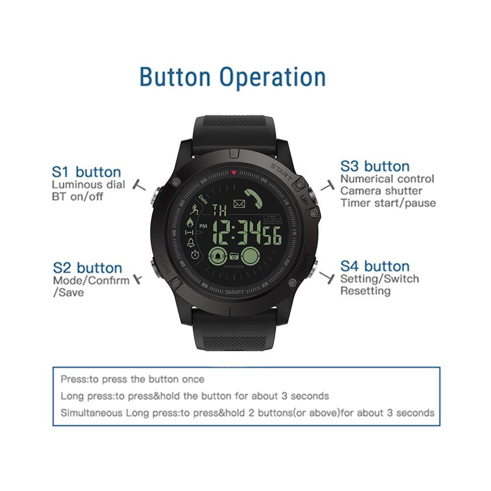 Asiproper Zeblaze VIBE3 Smartwatch Reloj Inteligente Bluetooth Pulsera Podómetro para iOS y Android, Práctico y cómodo (Negro)