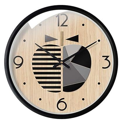Classic quality Reloj de Pared silencioso Reloj de Cuarzo de Madera Modernos creativos gráficos de Pared