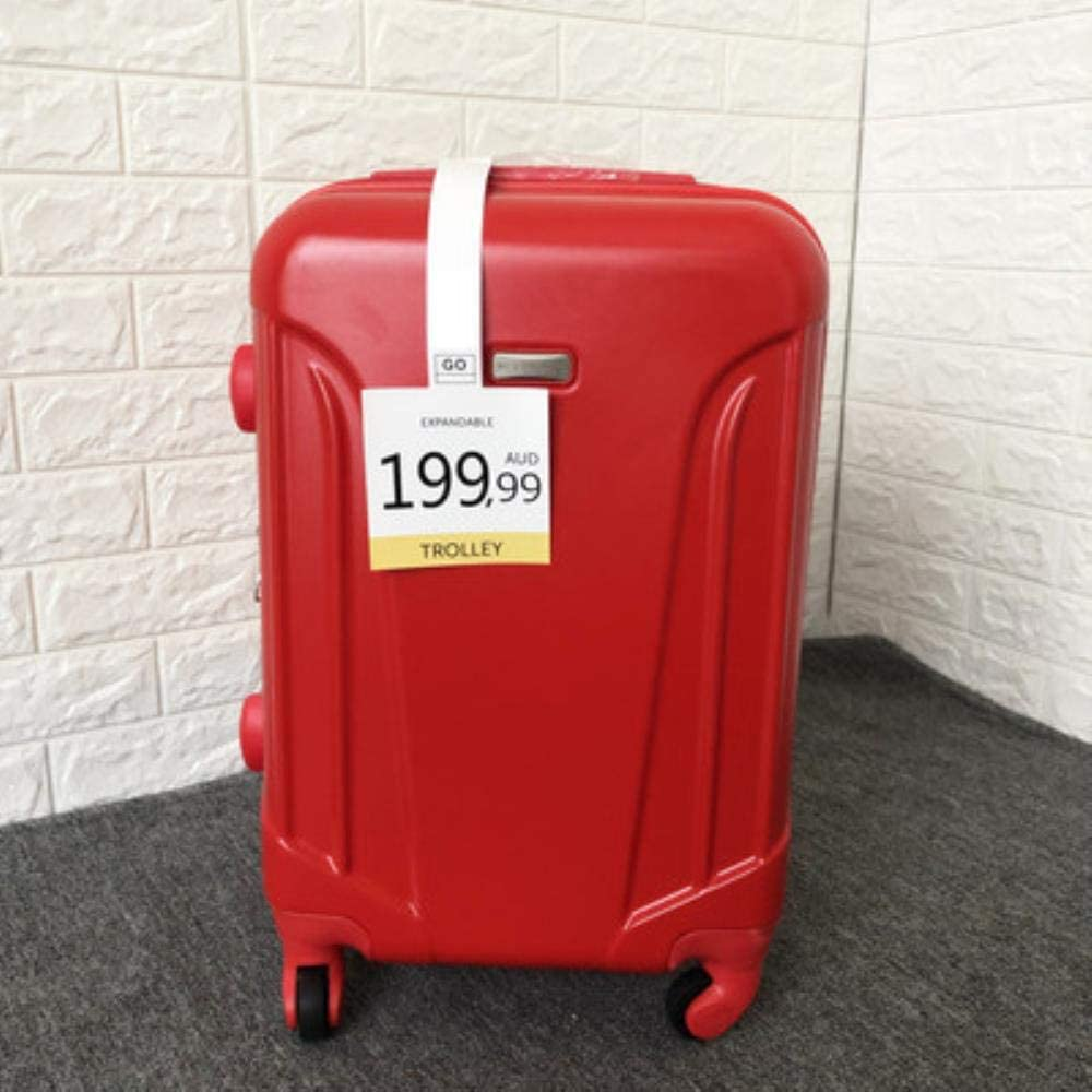 Italian Fashion Brand Small Turtle Trolley Suitcase Ultralight Expand Men Women Rolling Luggage Box Scratch-Proof Suitcase,Red,20