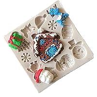 LALANG Christmas Tree Street Sign Silicone Fondant Mold Chocolate Cake Decorating Tool