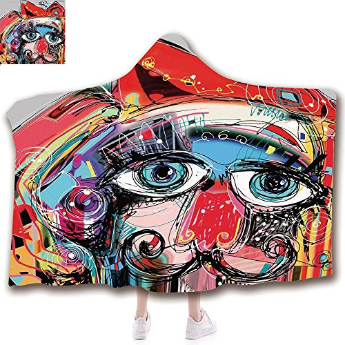 Fashion Blanket Ancient China Decorations Blanket Wearable Hooded